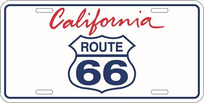 Route 66 California License Plate