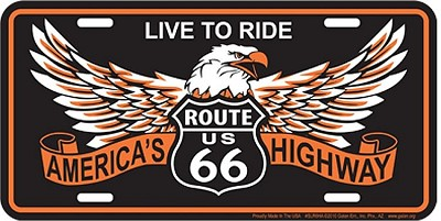 Route 66 Eagle License Plate