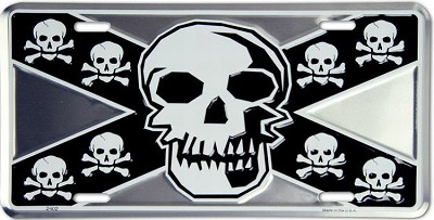 Rebel Skull License Plate