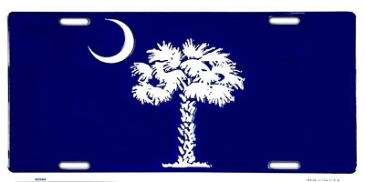 SC Blue Palmetto License Plate