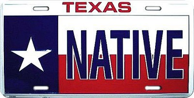 Texas Native License Plate