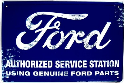 Ford Service Weathered Large Parking Sign