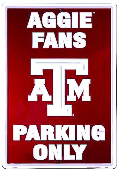 Texas A&M Aggies Large Parking Sign