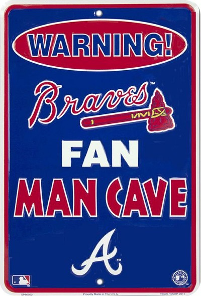 Atlanta Braves Fan Man Cave Sm. Parking Sign