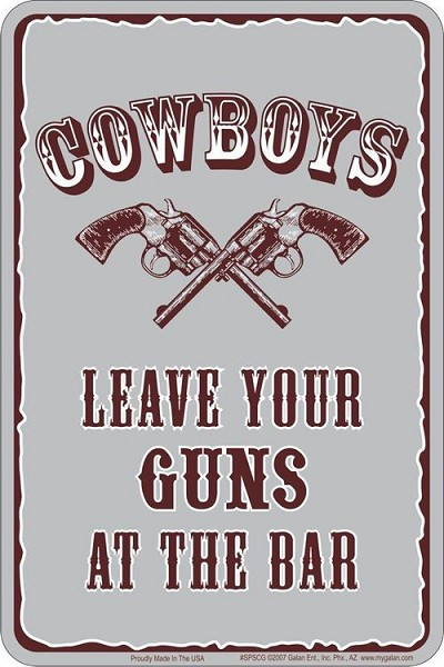 Cowboys Leave Sm. Parking Sign