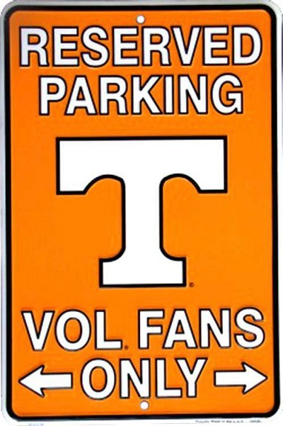 University of Tennessee Volunteers Sm. Parking Sign