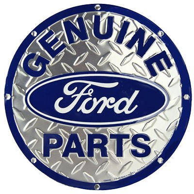 Ford Genuine Parts Diamond Round Sign