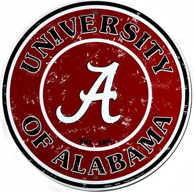 University of Alabama Round Sign