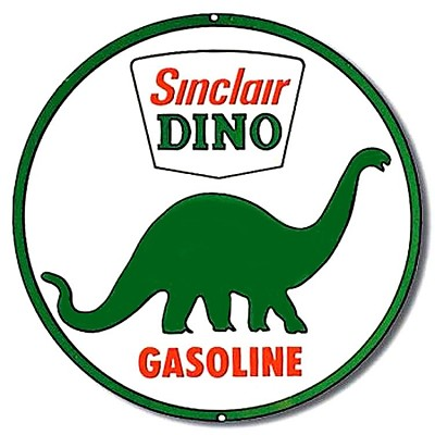Sinclair Dino Oil Round Sign