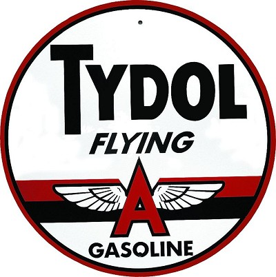 Tydol Flying A Oil Round Sign