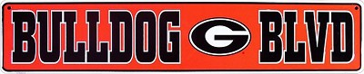 University of Georgia Bulldog Street Sign