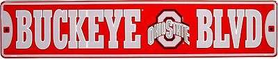 Ohio State Buckeye Blvd Street Sign