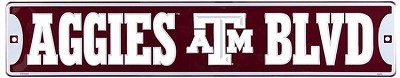 Texas A&M Street Sign