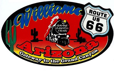 Williams Route 66 Sticker