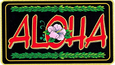 Aloha  Black & Gold Sticker